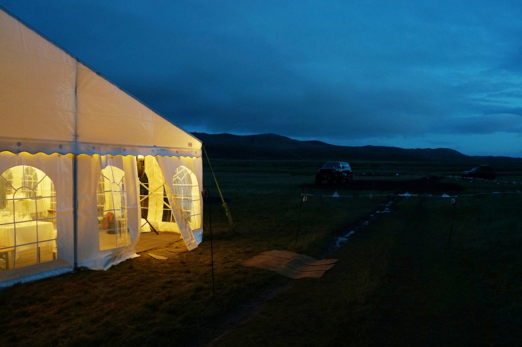 Glamping in countryside