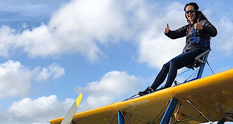 Ready for take off wing walk