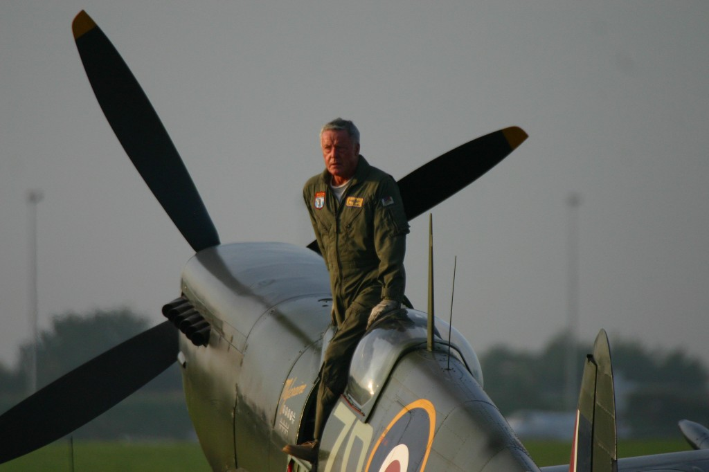 Ray Hanna in a Restored Spitfire