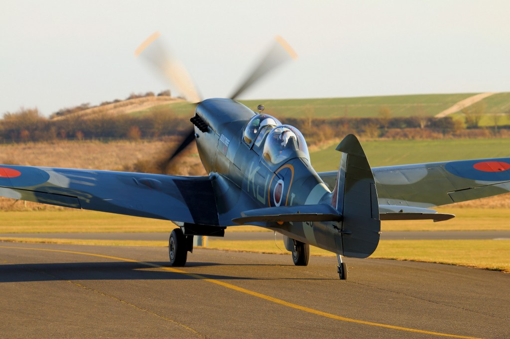 Two Seater Spitfire Spitfire Taking off