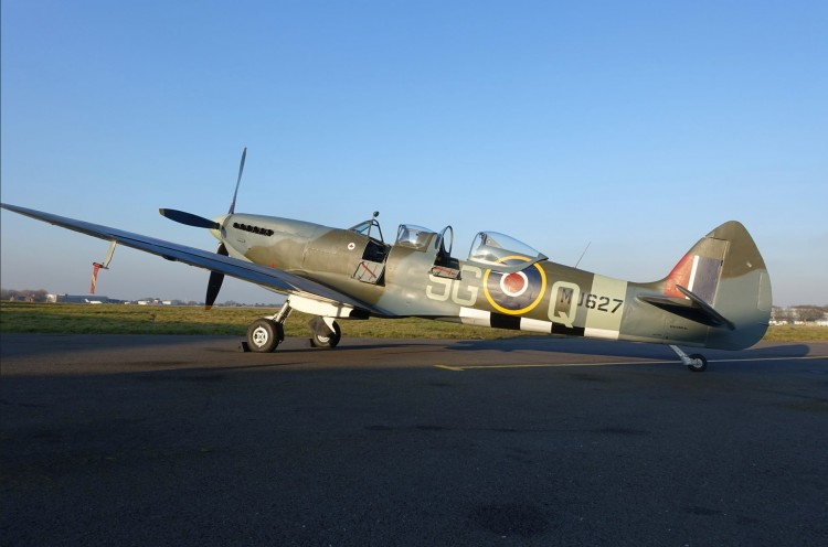 two seat Spitfire ready to fly