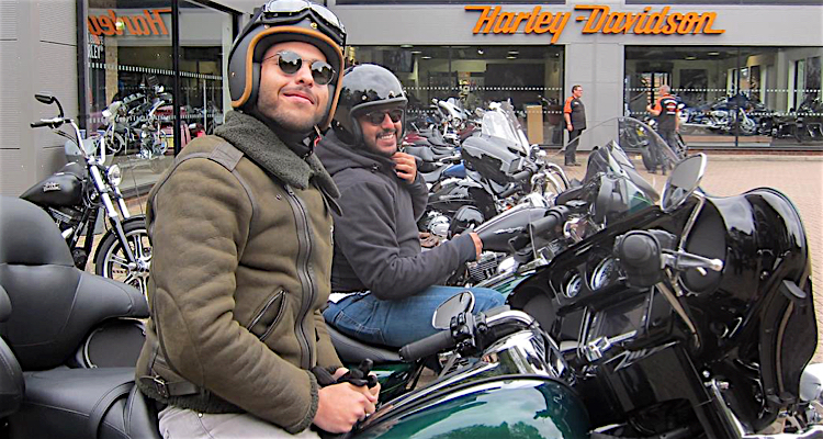 Happy Dads getting ready for their Father's Day Harley Davidson ride out