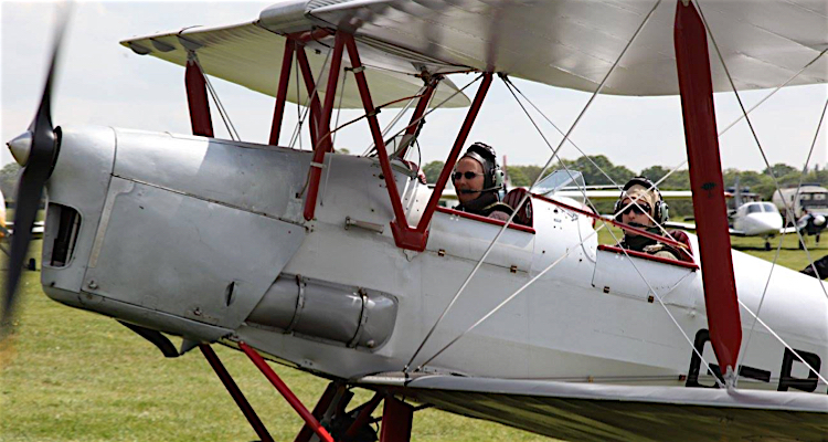 Chocks away Dad, you're going on a Tiger Moth flight for Father's Day