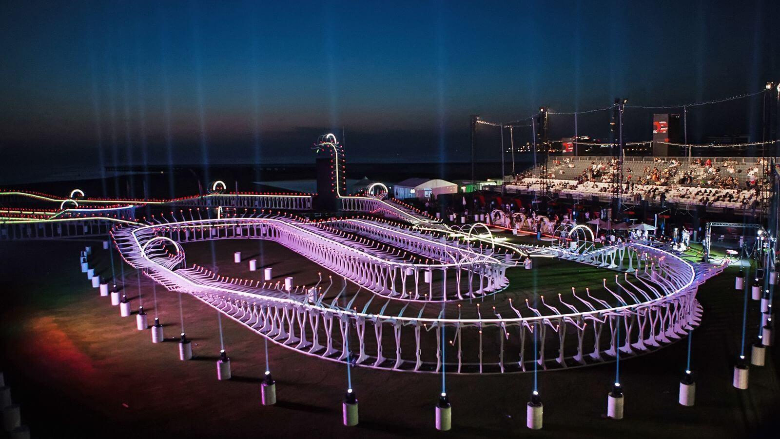 Many race courses use LED lights.