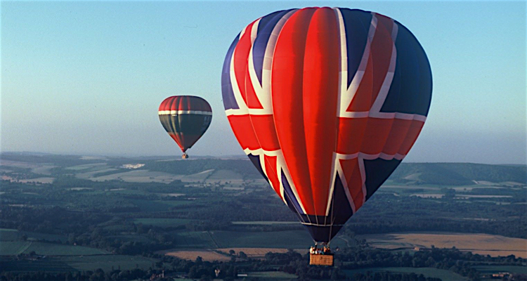 You're never too old to go floating up and away on a hot air balloon ride