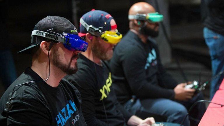 FPV (First Person View) googles give pilots an immersive experience.