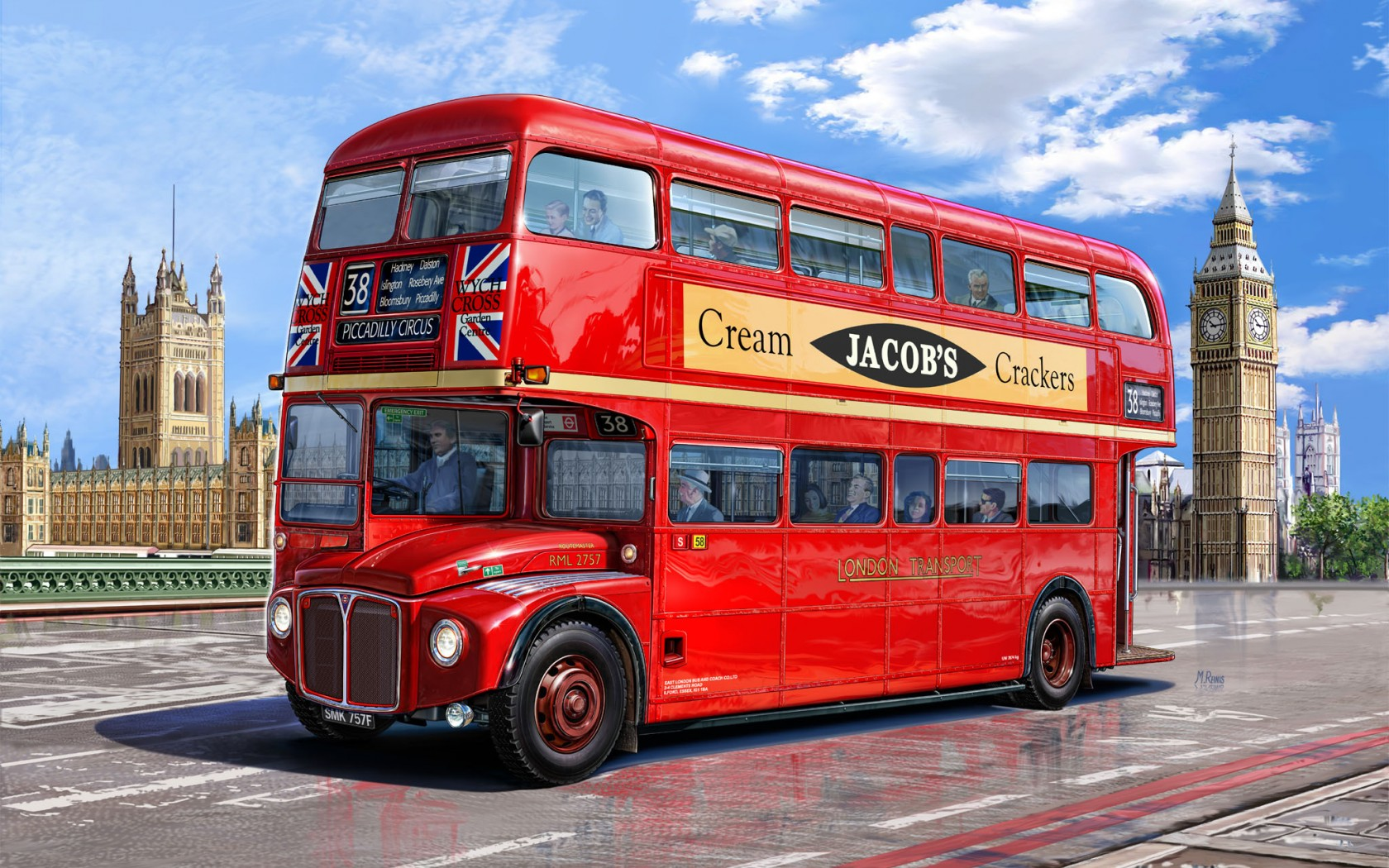 routemaster bus london driving