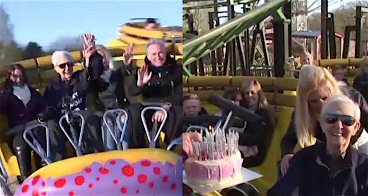 A tattoo at 104 years old and a rollercoaster ride for his 105th, Jack is the holder of two records