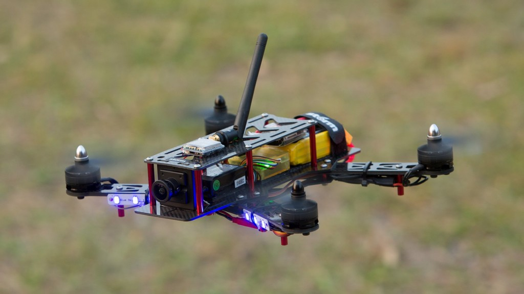Example of a custom-built racing drone.