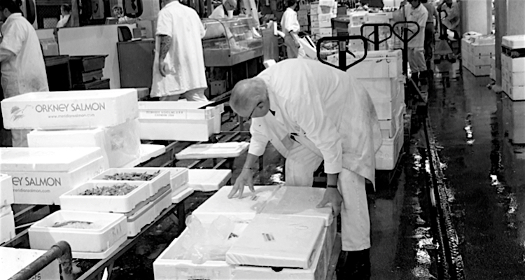 Watch out for the porters of Billingsgate with their trolleys stacked with polystyrene fish boxes!