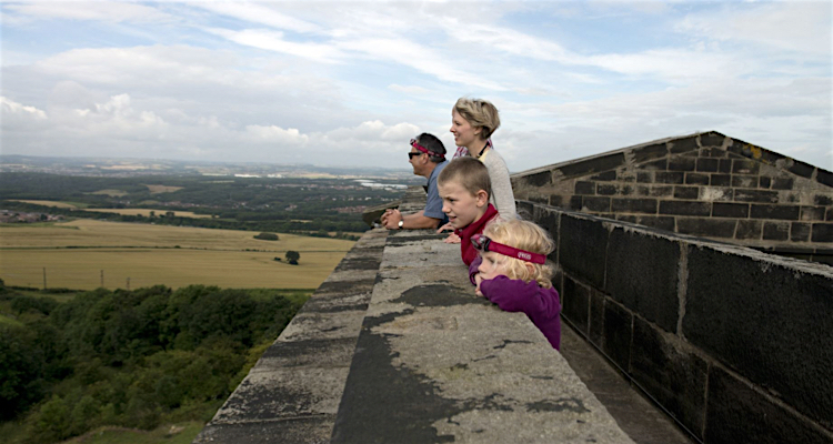 Penshaw Monument climbing to the top