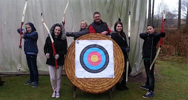 Archery kids day outdoors