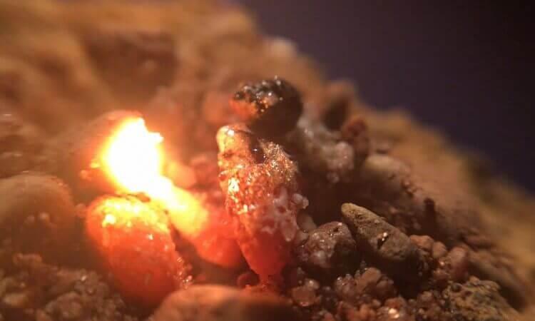 melting sand