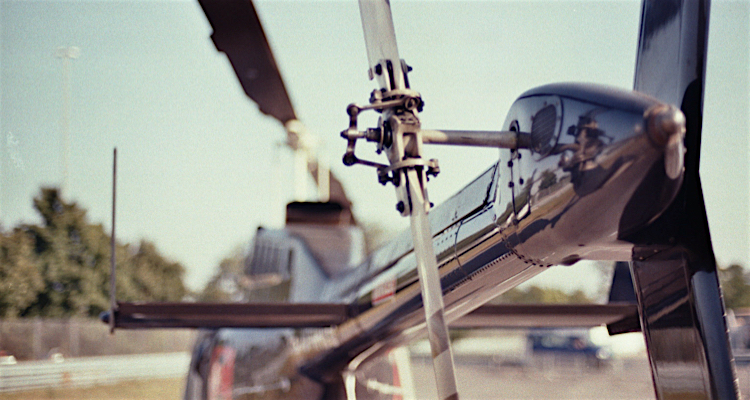 flying in a helicopter - Bell Jetranger