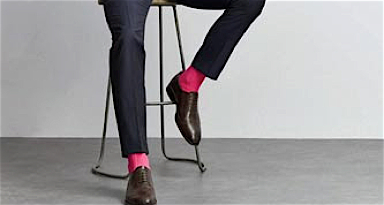 sock wearing dad