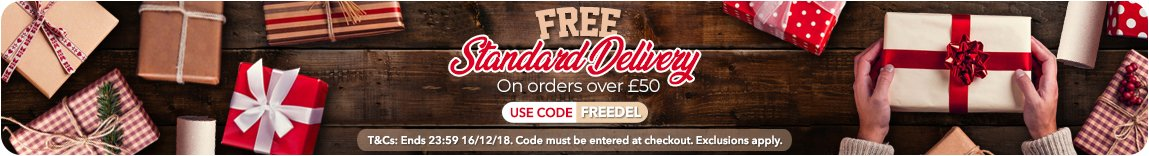 Free Standard Delivery with code FREEDEL at Checkout