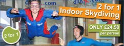 2 for 1 Indoor Skydiving