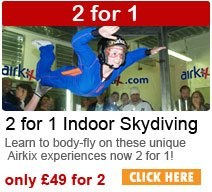 2 for 1Airkix Indoor Skydiving