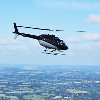 Helicopter Flight With Cream Tea For Two With Into The Blue