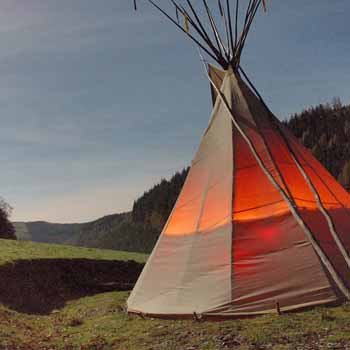Forest Retreat Break In A Teepee Wales Picture