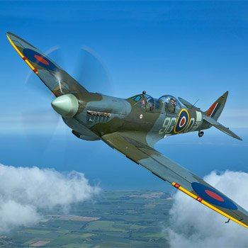 Two Seater Spitfire Flight & Heritage Hangar Visit
