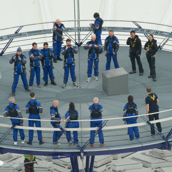 Climb up the o2 and see london from aloft from into the blue for Hotels 02 arena london
