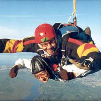 Skydiving over Lancashire