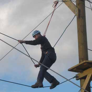 High Rope and Zip Wire Challenges