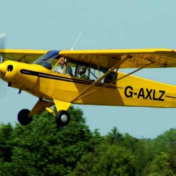 Flying in a Piper Cub