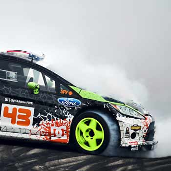 Ken Block Gymkhana Driving in Staffordshire