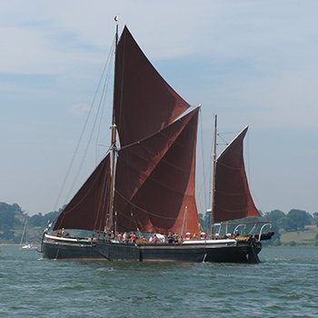 Vintage Barge Cruise for Two with Lunch Suffolk