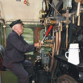 driver of steam train