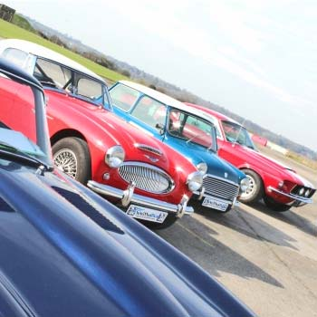 Classic Car Driving at Bicester Heritage