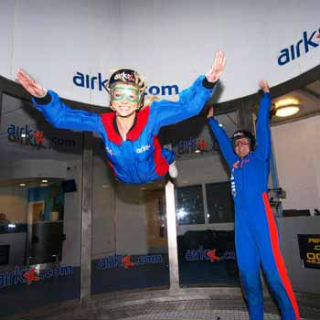 Indoor Skydiving & Freefall Indoor Parachuting with Into The Blue