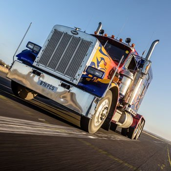 Optimus Prime Truck Driving Picture