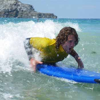 Body Boarding in Cornwall