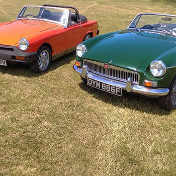 MG Classic Car Hire with Picnic Option