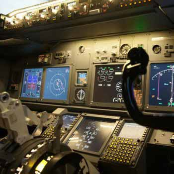 control panel in plane