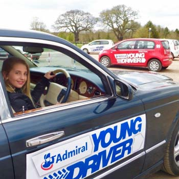 Driving lessons for 10-17 year olds in a Bentley