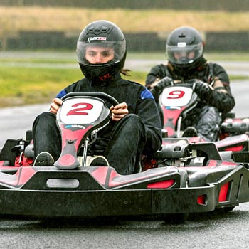 Outdoor Karting At Three Sisters Circuit Picture