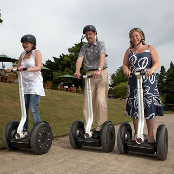 family on segways
