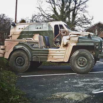 Military Vehicle Driving in Bournemouth