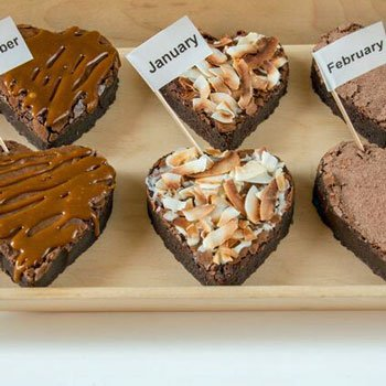 Two Person Brownie Heart Subscription