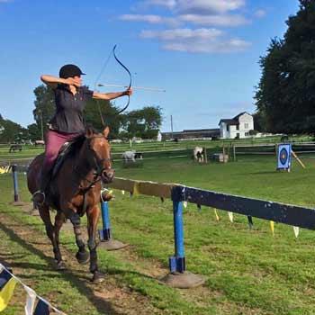 Horseback Archery Warwickshire Picture