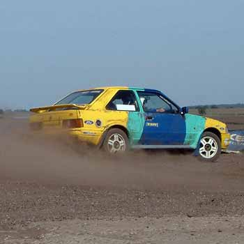 yellow and green rally car