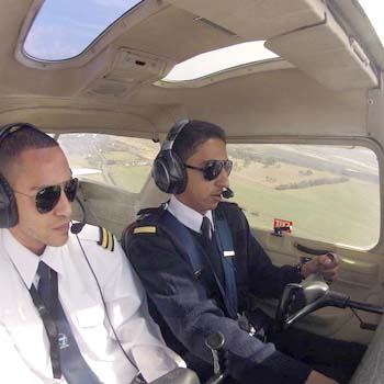 pilot and instructor