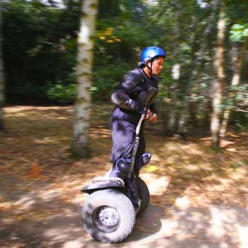 segway rider in the sun