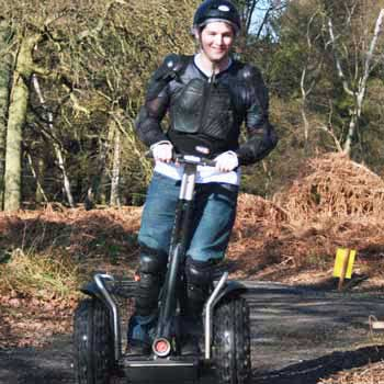 segway rider in body armour