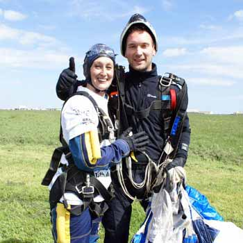 couple after skydive