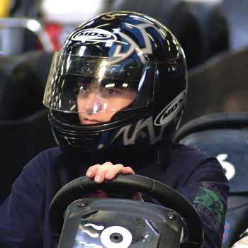 boy on Go Kart